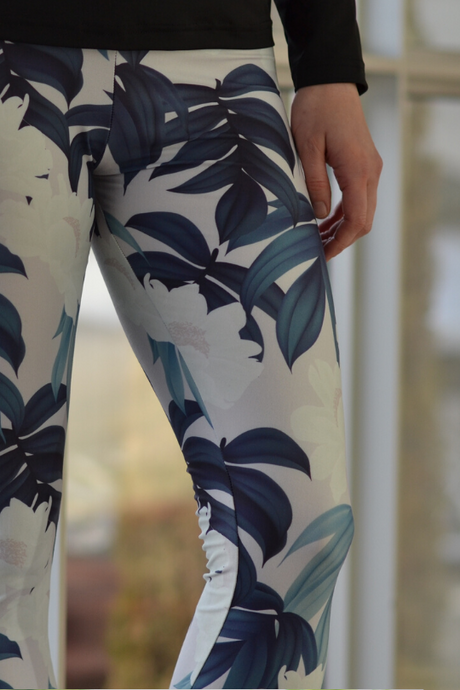 Casual Leggings - Neutral Tropics