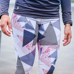 Leggings sport- Triangles rosés