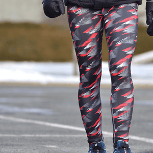 Leggings sport -Rouge sportif