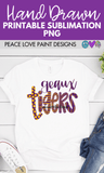 Geaux Tigers Hand Drawn Sublimation Design-Digital Download-Peace Love Paint Designs