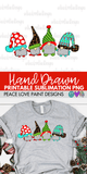Christmas Gnomies Hand Drawn Sublimation Design-Digital Download-Peace Love Paint Designs