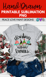 Christmas with my Gnomies Hand Drawn Sublimation Design-Digital Download-Peace Love Paint Designs