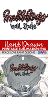 Bulldogs Hail State Leopard Sublimation Design-Digital Download-Peace Love Paint Designs