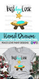 Best Day Ever Christmas Hand Drawn Sublimation Design-Digital Download-Peace Love Paint Designs