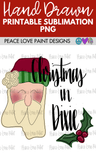 Christmas in Dixie Santa Hand Drawn Sublimation Transfer-Sublimation Transfer-Peace Love Paint Designs
