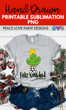 Christmas Cactus Hand Drawn Sublimation Design-Digital Download-Peace Love Paint Designs