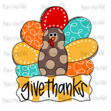 Give Thanks Fall Sublimation design for t-shirts, pillows, mugs, etc! Download this sublimation design from Peace Love Paint Designs for your next sublimation t-shirt design, sublimation project or sublimation ideas!