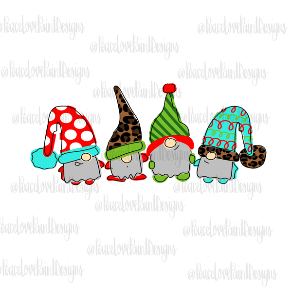 Christmas Gnomies Hand Drawn Sublimation Transfer-Sublimation Transfer-Peace Love Paint Designs