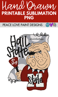 Mississippi State Sublimation Design! Perfect for Sublimation Printing and Sublimation T-shirts. Download the hand drawn PNG from Peace Love Paint Designs here.