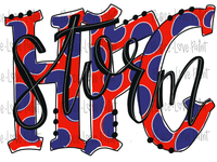 HFC Storm Black Hand Drawn Sublimation Design-Digital Download-Peace Love Paint Designs