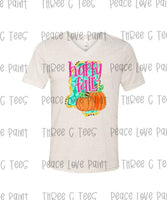 Happy Fall Adult Bella Canvas Oatmeal TriBlend Tee