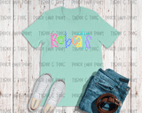 Adult Ice Cream Font Spirit Tee