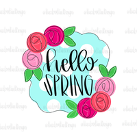 Hello Spring Floral Hand Drawn Sublimation Design-Digital Download-Peace Love Paint Designs