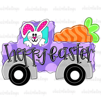 Hoppy Easter Hand Drawn Sublimation Design-Digital Download-Peace Love Paint Designs