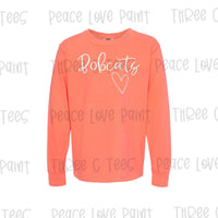 Youth Bobcat Love Long Sleeve Tee