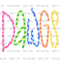 Dawgs Ice Cream Font Hand Drawn Sublimation Design