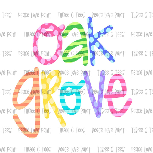 Oak Grove Ice Cream Font Hand Drawn Sublimation Design