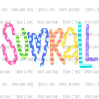 Sumrall Ice Cream Font Hand Drawn Sublimation Design