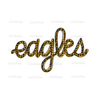 Eagles Leopard Script Hand Drawn Sublimation Transfer-Sublimation Transfer-Peace Love Paint Designs