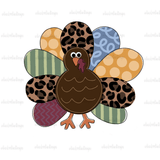 Leopard Turkey Hand Drawn Sublimation Design-Digital Download-Peace Love Paint Designs