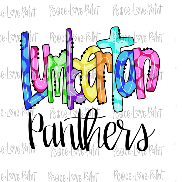 Lumberton Rainbow Dot Hand Drawn Sublimation Design-Digital Download-Peace Love Paint Designs
