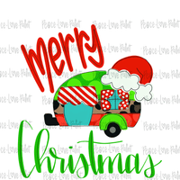 Merry Christmas Camper Sublimation Design from Peace Love Paint Designs! This hand drawn Christmas sublimation design is perfect for sublimation t-shirt transfers, pillow designs, or any kind of Christmas sublimation design ideas!