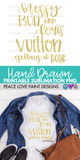 Messy Bun and Louis Vuitton Hand Drawn Sublimation Design-Digital Download-Peace Love Paint Designs