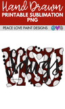 MSU Dawgs Hand Drawn Sublimation Design-Digital Download-Peace Love Paint Designs