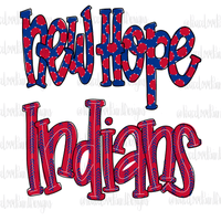 New Hope Indians Hand Drawn Sublimation Design