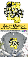 MS USM with Eagle Head Hand Drawn Sublimation Design-Digital Download-Peace Love Paint Designs