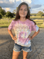 Cougars Youth Desert Rose Tie Dye Tee