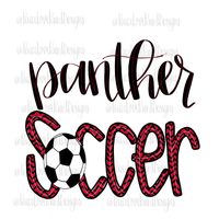 Panther Soccer Hand Drawn Sublimation Design-Digital Download-Peace Love Paint Designs