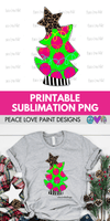 Pink Christmas Tree Sublimation Design from Peace Love Paint Designs! This hand drawn Christmas sublimation design is perfect for sublimation t-shirt transfers, pillow designs, or any kind of Christmas sublimation design ideas!