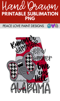 Rammer Jammer Alabama Hand Drawn Sublimation Design-Peace Love Paint Designs