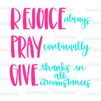 Rejoice Pray Give Hand Drawn Sublimation Design-Digital Download-Peace Love Paint Designs