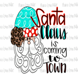 Santa Claus is Coming to Town Christmas Sublimation Design from Peace Love Paint Designs! This hand drawn Christmas sublimation design is perfect for sublimation t-shirt transfers, pillow designs, or any kind of Christmas sublimation design ideas!