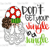 Jingle Jangle Santa Hand Drawn Sublimation Design-Digital Download-Peace Love Paint Designs
