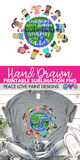 Kids Around World with Quote Hand Drawn Sublimation Design-Digital Download-Peace Love Paint Designs