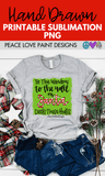 Santa Deck the Halls Hand Drawn Sublimation Design-Digital Download-Peace Love Paint Designs