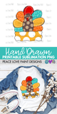 Turkey Give Thanks Fall Sublimation design for t-shirts, pillows, mugs, etc! Download this sublimation design from Peace Love Paint Designs for your next sublimation t-shirt design, sublimation project or sublimation ideas!