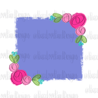 Lilac and Floral Background Hand Drawn Sublimation Design-Digital Download-Peace Love Paint Designs