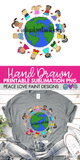 Kids Around the World Hand Drawn Sublimation Design-Digital Download-Peace Love Paint Designs