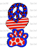 Peace Love Bulldogs Hand Drawn Sublimation Design-Digital Download-Peace Love Paint Designs