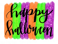 Happy Halloween Brush Strokes Hand Drawn Sublimation Design-Digital Download-Peace Love Paint Designs