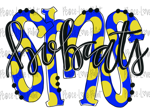SMS Bobcats (Sumrall) Hand Drawn Sublimation Design-Digital Download-Peace Love Paint Designs