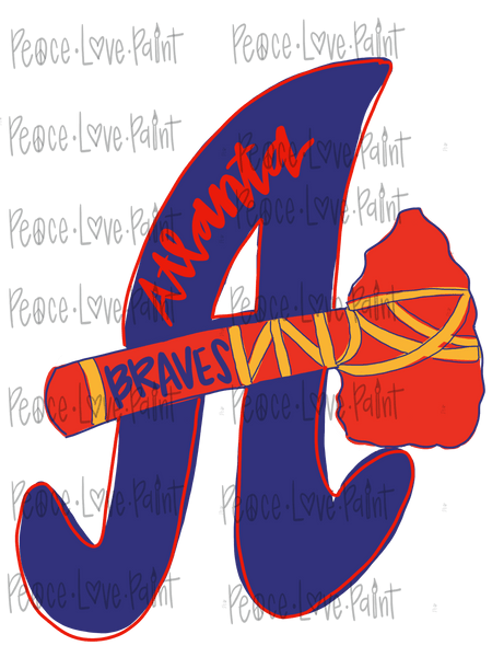 Atlanta Braves Sublimation Design perfect for all your sublimation design ideas. Put this printable PNG sublimation design on tshirts,mugs, etc. Download the digital download png sublimation design from Peace Love Paint Designs Here!
