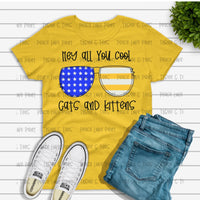 Adult Cool Cats and Kittens Gildan Soft Style Tee