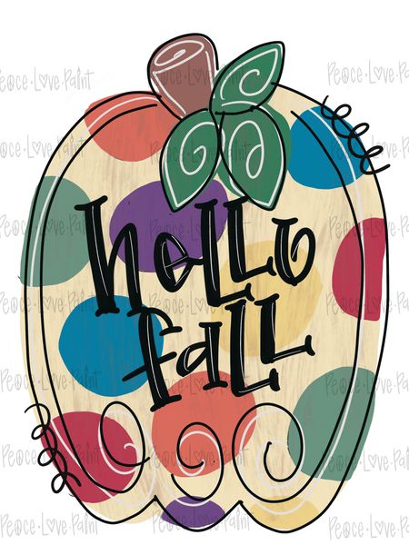 Polka Dot Pumpkin Hand Drawn Sublimation Transfer-Sublimation Transfer-Peace Love Paint Designs