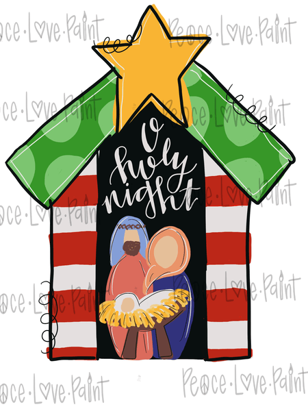 Nativity Hand Drawn Sublimation Design-Digital Download-Peace Love Paint Designs