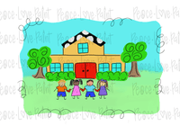 Happy School Kids Hand Drawn Sublimation Design-Digital Download-Peace Love Paint Designs